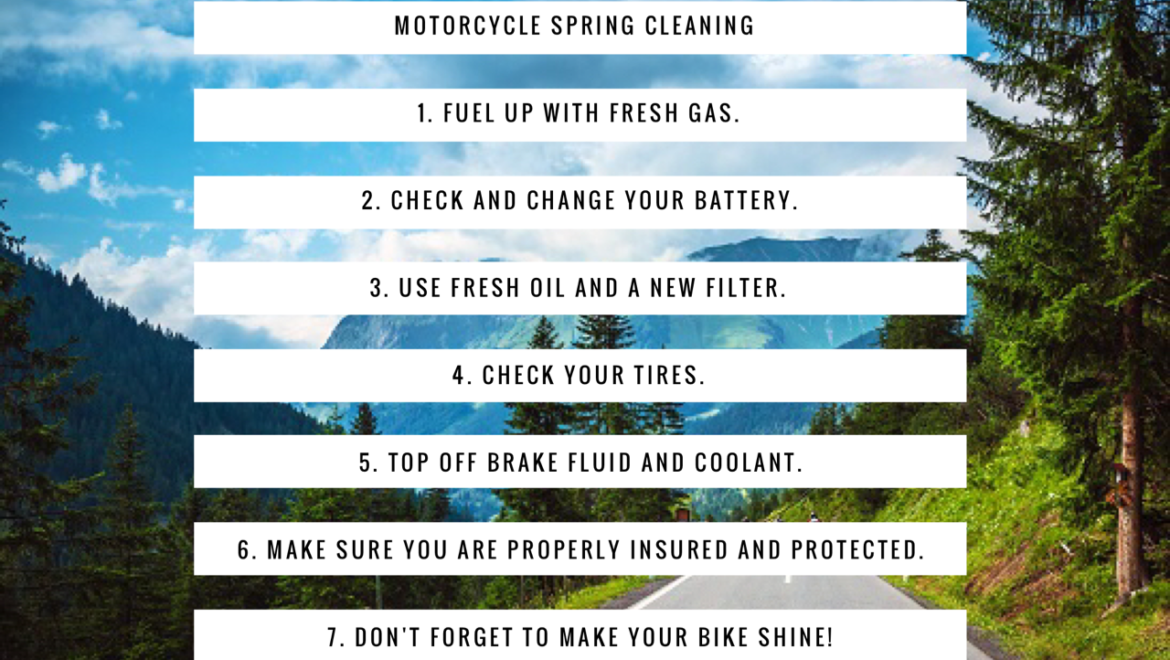 Spring Cleaning – Don't Forget Your Motorcycle